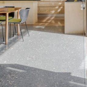 Black polished concrete matte full exposure