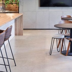 Commercial grind and seal polished concrete finish