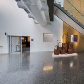 Polished concrete foyer by Grind and Seal Melbourne