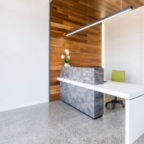 Waiting Room with polished concrete