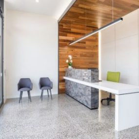 Polished Concrete medical clinic floor